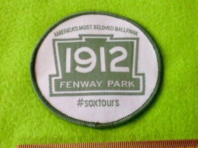 Baseball Badge PATCH USA - Fenway Park est.1912 Home of the SOX ...FREE POST