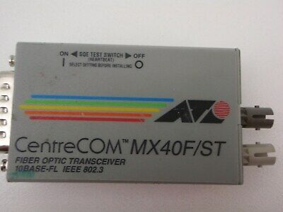 Allied Telesyn Mx40F/St  Centrecom Fiber Optic Trans Receiver
