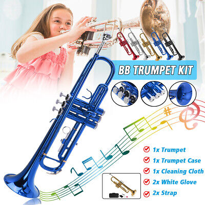 MECO Student Trumpet Beginners Trumpet for School Band with Case and Care Kit AU
