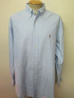 "Ralph Lauren POLO men's Blue Long Sleeve Casual Shirt XL 48-50"" Euro 58-60"