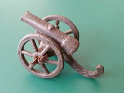 Antique Orient primitive style LEAD TOY SOLDIER  Cannon Gun