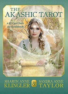 The Akashic Tarot: A 62-Card Deck and Guidebook, Taylor 9781401950446 New..