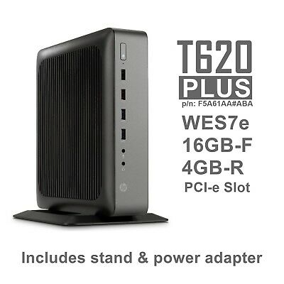 HP T620 Plus WES7e Thin Client Quad Core GX-420CA 2GHz 16GB-F 4GB-R  F5A61AA#ABA