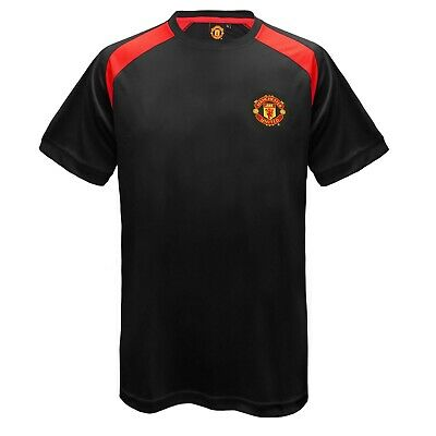 Mens boys Manchester United FC Official licensed  Football Training T Shirt L