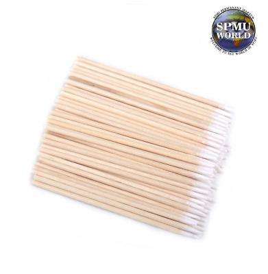 Microblading agent applicator Wooden swab Cotton Tip Make Up Beauty 7cm 10cm