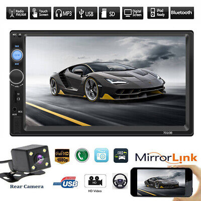 """2 DIN HD 7"""" Car Stereo Radio MP5 Player Bluetooth Touch Screen With Rear Camera"""