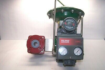 "Fisher 1"" Flanged Pneumatic Actuated Ball Valve Type 1052 Fieldvue Dvc5020F"