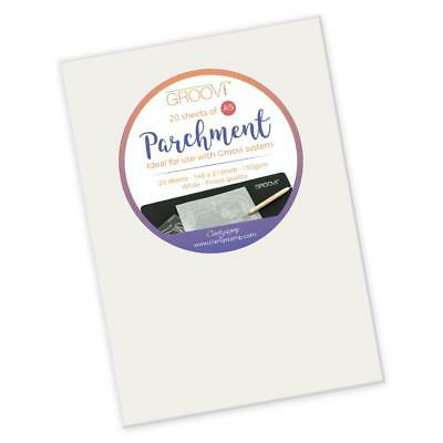 Clarity GROOVI A5 PARCHMENT PAPER x 20 Sheets GRO-AC-40020-XX 150gsm 148 x 210mm