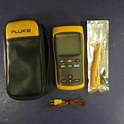 Fluke 51 II Thermometer, Screen Protector, Excellent, Soft Case
