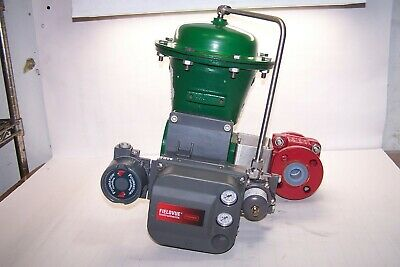 "Fisher 1"" Flanged Pneumatic Actuated Ball Valve Type 2052 Fieldvue Dvc6200F"