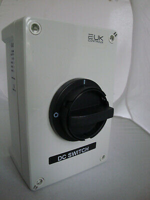 Enclosed DC Switch for PV Installation 30A 500V, 20A 600V IP65