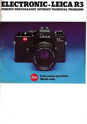 Genuine Leica R3 Electronic Brochure Sales Promotion Nice