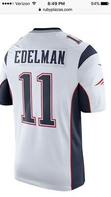 timeless design a15a0 d7eac JULIAN EDELMAN PATRIOTS Jersey. Nike Youth Large. New
