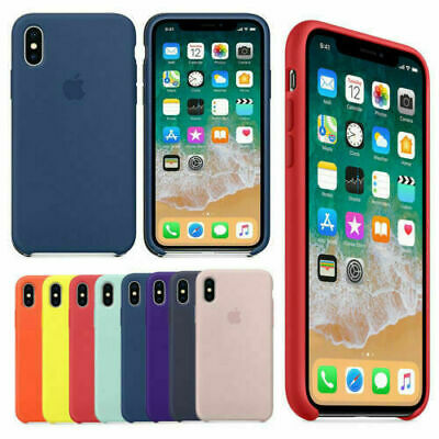 Genuine ufficiale morbida in silicone Case Cover per Apple iPhone X 6s 7 8 plus