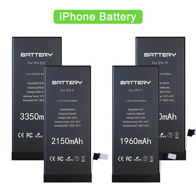 High Capacity for IPhone 6 6S 6P 6SP 7 7P Replacement Battery + 1 Year Warranty