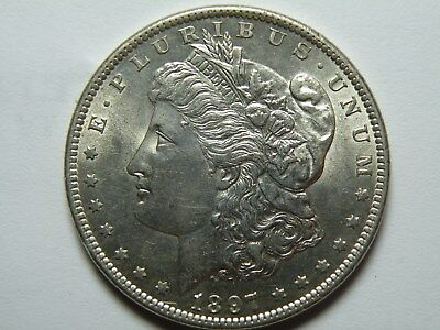 1897-S Morgan Silver Dollar - Choice BU