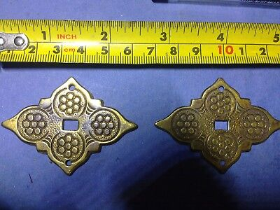 back plate for handles x 2, cast brass, vintage ((OS1)