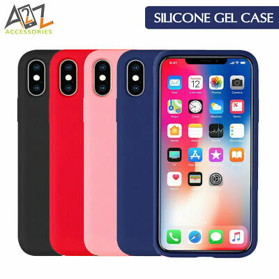 Gorilla Tech Silicone Back Cover with Microfibre Interior for iPhone XS Max XR X