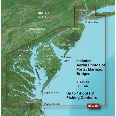 Garmin Bluechart® G2 Vision® Hd - Vus038R - New York - Chesapeake - Microsd™/sd™