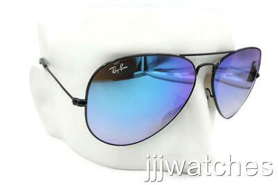 ca2554cd856 New Ray Ban AVIATOR FLASH LENSES BLUE GRADIENT Sunglasses RB3025 002 40 62