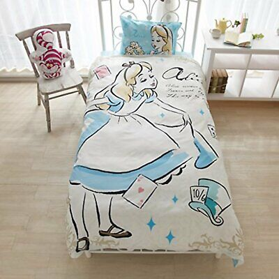 Disney Alice Bed Cover 3-piece set SB-120 Free Shipping with Tracking# New Japan