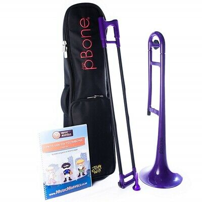 pBone Beginner Bundle with Padded Bag and Book - Purple