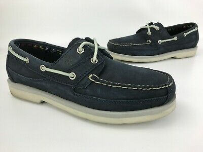 38837c5ec78 Timberland Classic Boat Shoes 2 Eye Leather Oxfords Loafers Size Mens 10  Blue