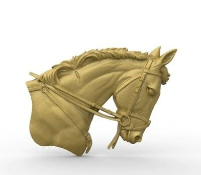horse head 3D model relief STL model for CNC Router carving