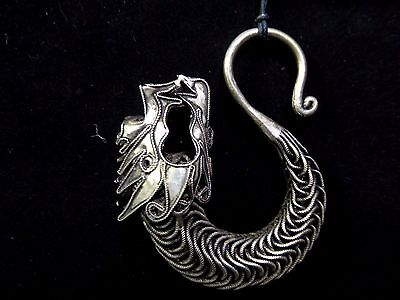 HANDMADE MIAO HILL Tribe Asian Silver Plated Metal Dragon 3