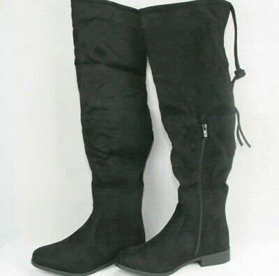 1e1f6b8faf8 Womens Over The Knee High Boots Size 8.5 Black Suede Journee Collection  Mount