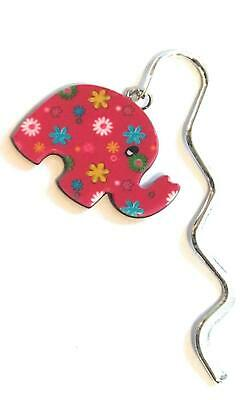 FizzyButton Gifts Acrylic Elephant Charm Mini Bookmark in Gift Bag