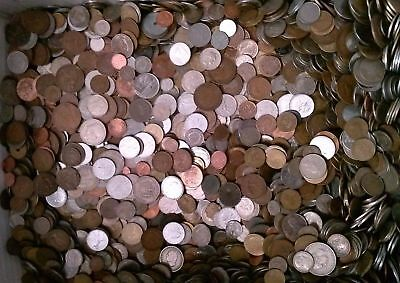 Lot 4 Pound / 1816 Grams Of Mixed Foreign World Coins Free Shipping