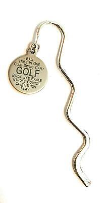 FizzyButton Gifts Golf Stainless Steel disc Mini Bookmark in Gift Bag