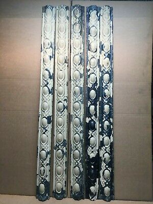 """5pc Lot of 48"""" by 3.5"""" Antique Ceiling Tin Vintage Reclaimed Salvage Art Craft"""