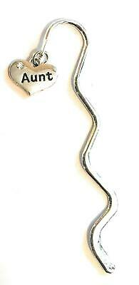 FizzyButton Gifts Aunt Heart Charm Mini Bookmark in Gift Bag
