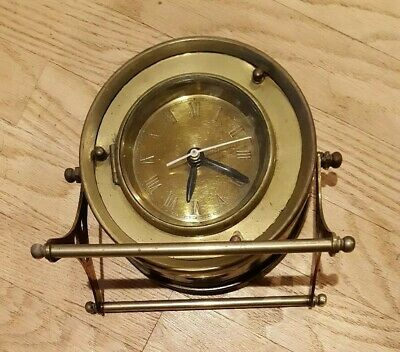 Vintage Style  Clock - Brass - parts or restore.