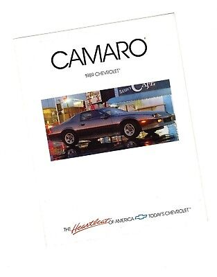 1989 CHEVY CAMARO Brochure / Flyer with Color Chart: RS