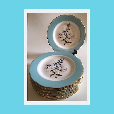 Royal Albert 100 Years - 1950's-Festival- Dessert/Salad Plates - Set Of 10 - NWT
