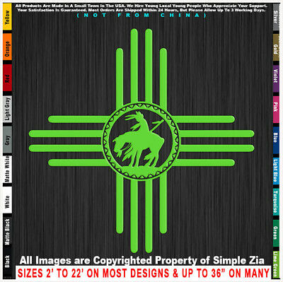 Zia End of the Trail Native American Indian sticker decal