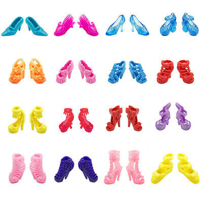 10pcs/set Vogue Colorful Mixed Style Sandals High Heel Shoes for Kids Toy