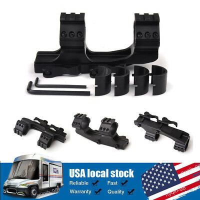 """QD Quick Release Cantilever 1""""/30mm Scope Ring 20mm Picatinny Weaver Rail Mount"""