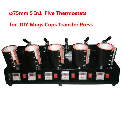 5 in 1 Mug Heat Press Transfer Sublimation Machine φ75mm Digital Cup Stamping