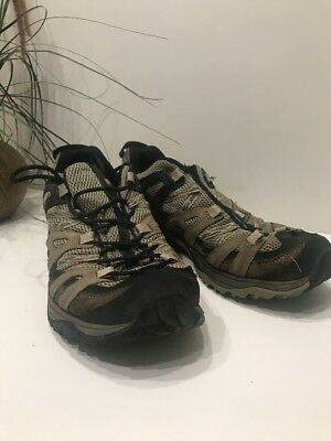 ca51649819af Men s Merrell Vibram Hiking Boots Size 10 Waterproof Continuum Light Brown  Black
