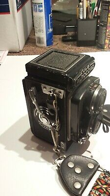 Vintage Minolta Auto Cord Camera With Owners Manual