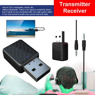 Wireless 2 in 1 Bluetooth 5.0 Transmitter Receiver 3.5mm AUX Stereo Music
