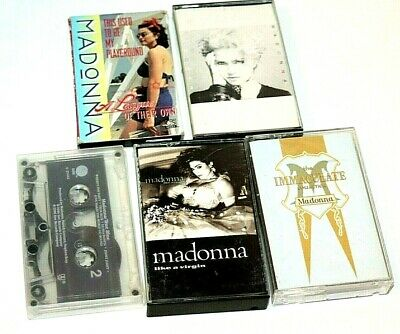 Madonna Cassette Tapes Like A Virgin Immaculate Collection True Blue Lot Of 5