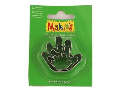 Makins Clay & Cookie Cutters - Hand shape (Set of 3) cake Fondant