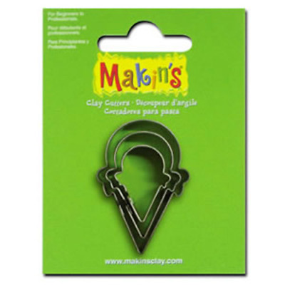 Makins Clay & Cookie Cutters - ICECREAM CONE shape (Set of 3) cake Fondant