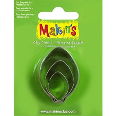 Makins Clay & Cookie Cutters - BULB ORNAMENT shape (Set of 3) cake Fondant