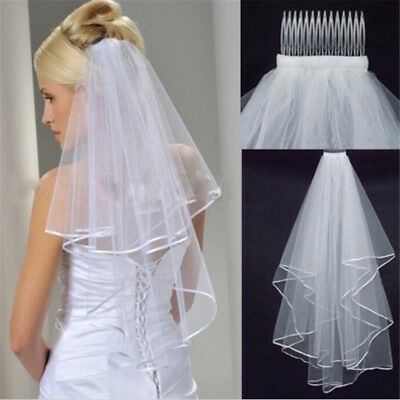 White Elegant Beauty Two Layers Short Nets Tulle Brides  For Wedding UQ